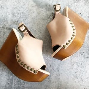 Jeffrey Campbell Snick Wooden Stud Wedges